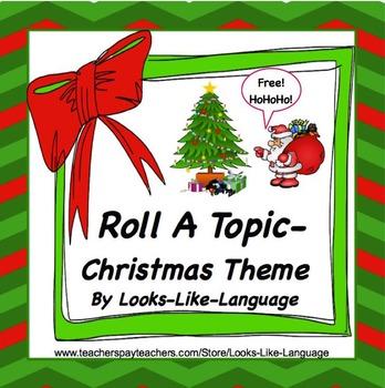 Speech Language Free Photo Activities Christmas Roll It, Say It, Write It