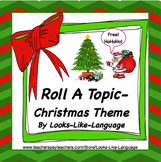 Speech Therapy | Photo Activities | Christmas | FREE Roll It Say It Write It