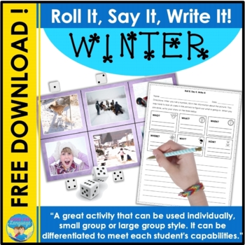 Speech and Language Activities: Roll It, Say It, Write It for Winter
