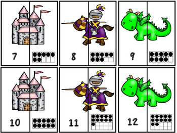 Free  Fairy Tale -Royal Kingdom Number Puzzles 1-20