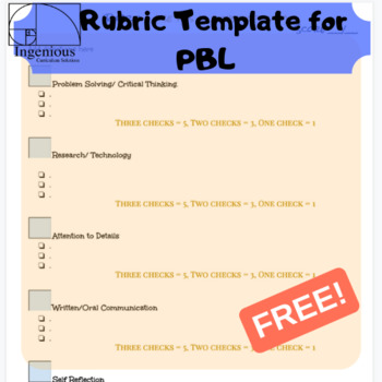 Project Based Learning Template from ecdn.teacherspayteachers.com
