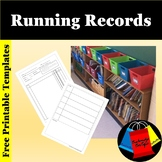 Freebie Running Record Template for Reading Conference