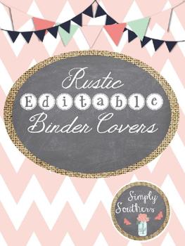 Free RusticEditable Binder Covers