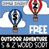 Free S and Z Word Sort | Articulation | Boom Cards | Speech-Language Therapy