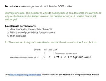 Free SAT Math Notes: Combinatorics