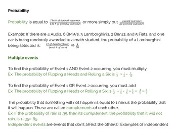 Free SAT Math Notes: Probability