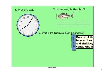 Free SMARTboard Slides for math discussions