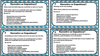 Free STAAR Narrative and Expository Writing Prompt Activity