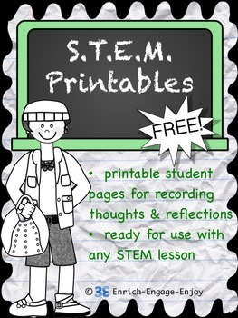Free STEM or STEAM Printables for use with any lesson!