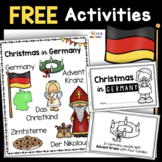 Free Saint Nicholas Christmas in Germany Book and Vocabulary Activities
