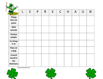 Free Saint Patrick's Day Puzzler