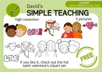 Free Saint Valentine's Day clipart - Clipart del día de Sa