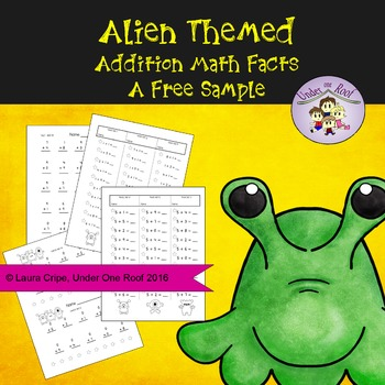 Free Sample: Alien Themed Addition Facts