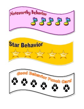 **Free**  Behavior Punch Cards
