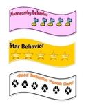 **Free**  Behavior Punch Cards