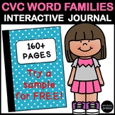 CVC Word Families: No Prep Interactive Notebook Activities