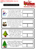 Free Sample: Christmas Addition & Subtraction Bar Model Word Problems Grades 4&5