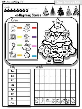 Free Sample! Christmas Literacy Centers