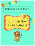 Free Sample Common Core Math - Subtraction {word problems}
