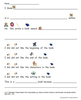 Free Sample! Common Core Writing Standards #7-8 Printable