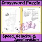 Free Sample: Crossword Puzzle: Speed, Velocity & Acceleration