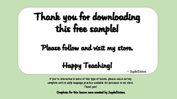 Free Sample Daily Language Practice with Review
