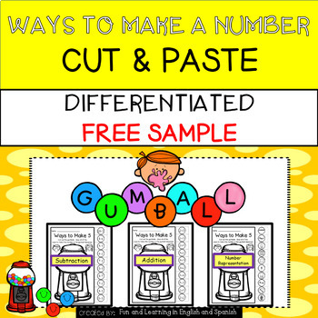 Free Sample - Differentiated Ways To Make Numbers NO PREP