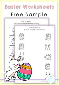 Free Sample Easter Same or Different Worksheets