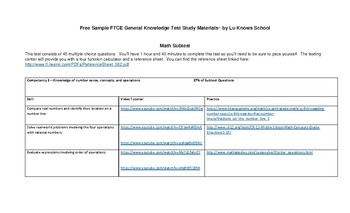 Free Sample FTCE General Knowledge Test Study Materials