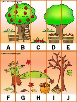 Free Sample! Fall Literacy Centers