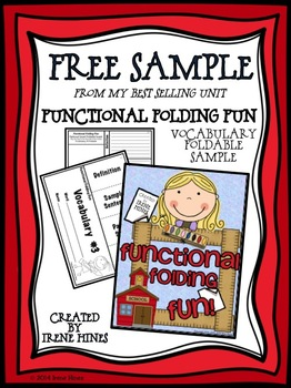 Free Sample From Functional Folding Fun! Vocabulary Flip-Flap Book