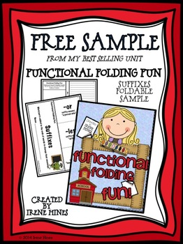 Free Sample From Functional Folding Fun! Suffixes Flip-Flap Book