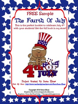 Free Sample From My Fourth Of July Activity Book: Primary Grades