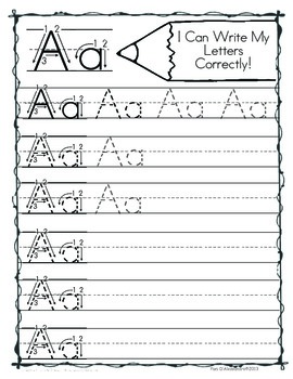 Free Sample! I Can Write My Letters Correctly! ~ RF.K.1d~ABC Writing Activities