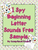 Free Sample I Spy - Beginning Sounds {Differentiated Phonics Activities}