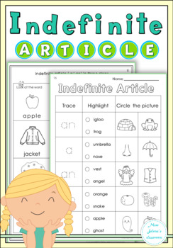 Free Sample Indefinite Article Worksheets