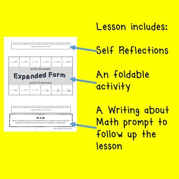 Free Sample Interactive Notebook Lessonwriting Decimal Numbers In