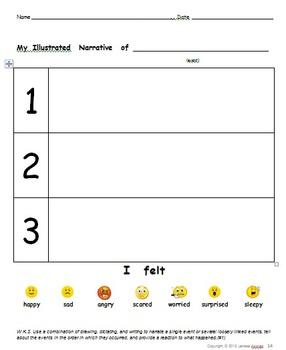 Free Sample!  K-1 Common Core Writing Standards #1-3 Print