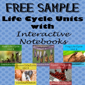 Free Sample Life Cycle Units - Butterfly, Chicken, Plant,