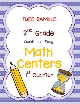 {Free Sample} Math Centers for 1st Quarter (2nd Grade -- C
