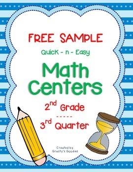 {Free Sample} Math Centers for 3rd Quarter (2nd Grade -- C