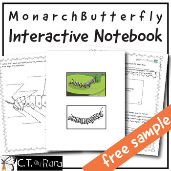 Free Sample * Monarch Butterfly Interactive Notebook