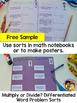 Free Sample - Multiply or Divide?:  A Word Problem Sort