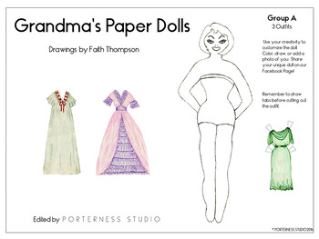 Free Sample Of Grandma's Paper Dolls