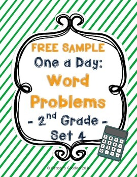 {Free Sample} One A Day: Word Problems for 2nd Grade (Set 4 - Common Core)