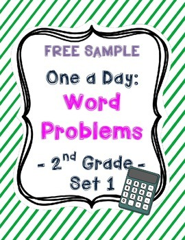 (Free Sample) One a Day: Word Problems for 2nd Grade (Set