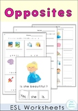 Free Sample Opposites Worksheets