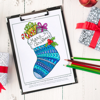 "Free Coloring Page from ""Coloring Christmas"" Coloring Book"
