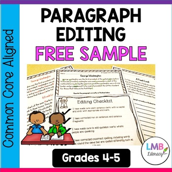 Free Sample of Paragraph Editing Worksheets With Answer Key