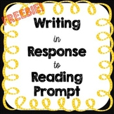 FREE - Sample Response to Reading Prompt